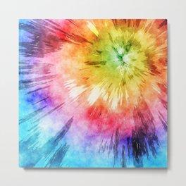 Tie Dye Watercolor Metal Print