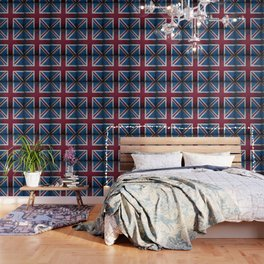 Union Jack Antique Wallpaper