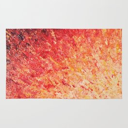 SAILOR'S SUNRISE - Beautiful Modern Abstract Crimson and Pink Nature Sky Sunset Ocean Reflection Rug