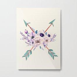 Floral Arrows Metal Print
