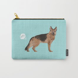 german shepherd funny farting dog breed gifts Carry-All Pouch