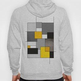 Black Yellow and Gray Geometric Art Hoody
