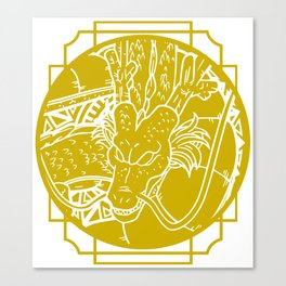 Stained Glass - Dragonball - Shenron Canvas Print