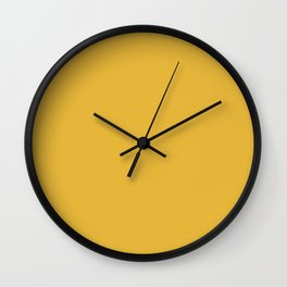 Mustard - Solid Color Collection Wall Clock