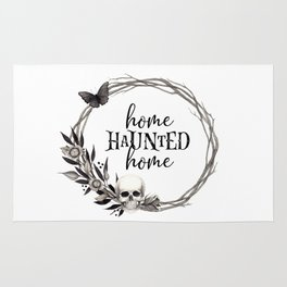 Halloween Wreath | Home Haunted Home Halloween Decor Rug