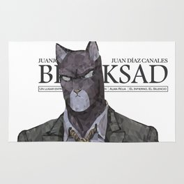 Polygonal Cat - Blacksad Rug