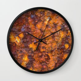 Heavy Rust Wall Clock