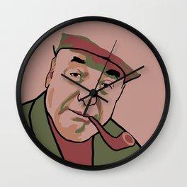 Pablo Neruda Wall Clock