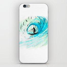 Surfer in blue iPhone Skin