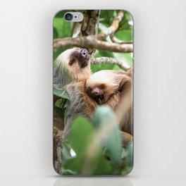 Yawning Baby Sloth - Cahuita Costa Rica iPhone Skin