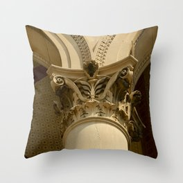 SEPIA COLUMN Throw Pillow