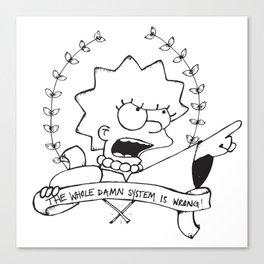 Lisa for President Canvas Print