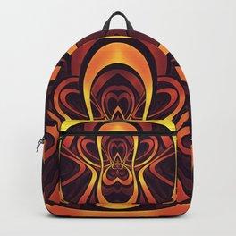 Golden Tribal Logo for a Space Monkey Named Winston Backpack
