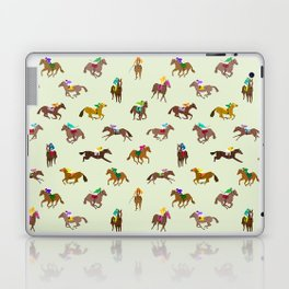 Off to the Horse Races (Mint) Laptop & iPad Skin