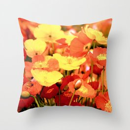 Californian Poppies Throw Pillow