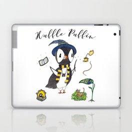Huffle Puffin, HP, Fan Art, Puffins, Puffin, Illustration, Magic Laptop & iPad Skin