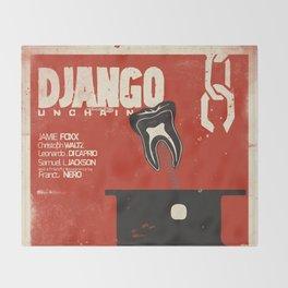 Django Unchained, Quentin Tarantino, alternative movie poster, Leonardo DiCaprio, Jamie Foxx Throw Blanket