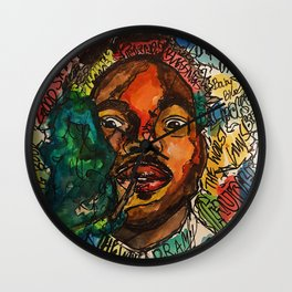 chance the rapper,coloring book,shirt,lyrics,music,art,wall art,cool,dope,colorful,painting,fan art Wall Clock