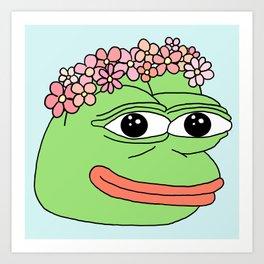 flower pepe Art Print