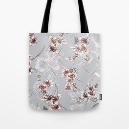 Crystalized Florals Tote Bag