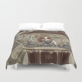 Midnight Circus: tickets Duvet Cover