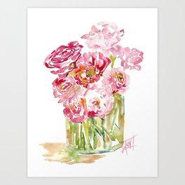 Happy Pinks Art Print
