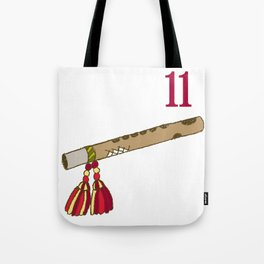 Vintage Inspired 12 Days of Christmas Eleven Pipers Piping  Tote Bag