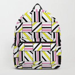 symetric tartan and gingham 2 -vichy, gingham,strip,square,geometric, sober,tartan Backpack