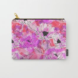 Punky Pink Floral Carry-All Pouch
