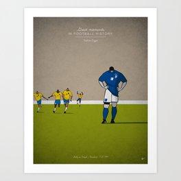 Roberto Baggio Art Print