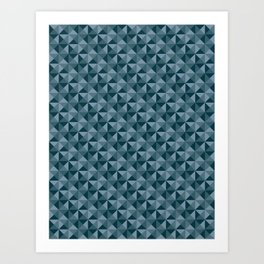 Blue Quartet Art Print