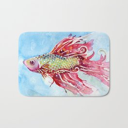 Fish Swim Bath Mat