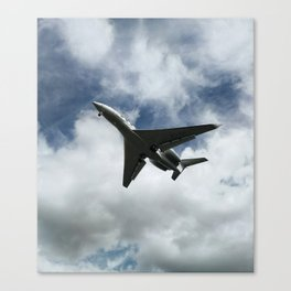 Silhuette of an aircraft Canvas Print