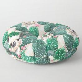 Llama and Cactus Pink Floor Pillow
