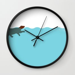 Tired Bear Wall Clock