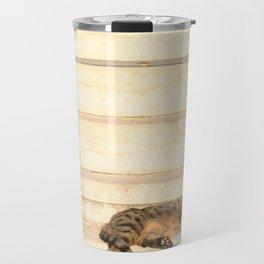 The sun shines on all cats equally Travel Mug