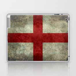 Flag of England (St. George's Cross) Vintage retro style Laptop & iPad Skin