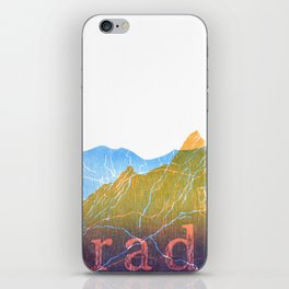 Colorado Mountain Ranges_Boulder Flat Irons + Continental Divide iPhone Skin