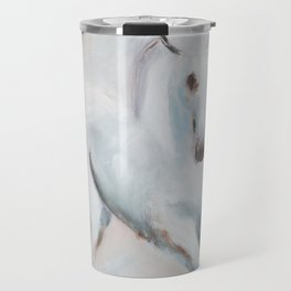 white horses Travel Mug