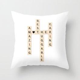 MOTHER's Day Scrabble Art Gift Throw Pillow