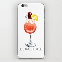 Le Sang et Sable Cocktail iPhone Skin
