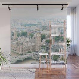 London Skyline, Big Ben, Westminster, Peter Pan Nursery, London Decor, Travel Nursery Wall Mural