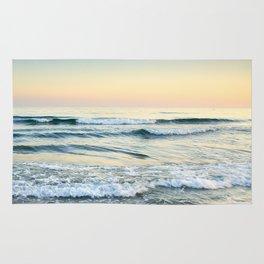Serenity sea. Vintage. Square format Rug