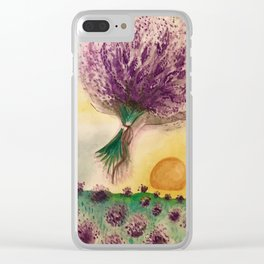 Lavender Feild Clear iPhone Case