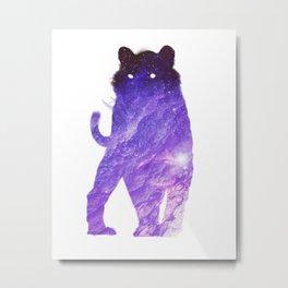 Space Cat // Galaxy Tiger // Guardian of the Purple Nebula Metal Print