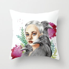 Entre Cuervos Throw Pillow