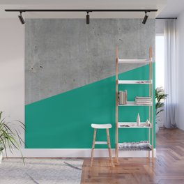 Concrete with Arcadia Color Wall Mural