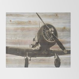 Old airplane 2 Throw Blanket