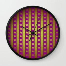 Star pattern R1 Wall Clock