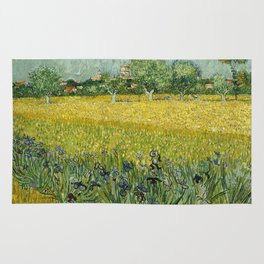 Field with Flowers near Arles by Vincent van Gogh Rug